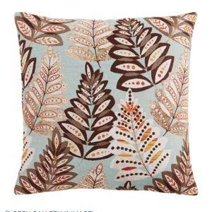 NWT Pier1 Jacquard Mod Leaves Pillow